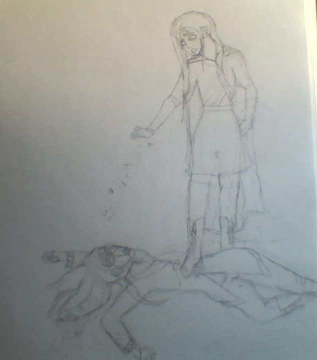 Chime and Yone (traditional wip)