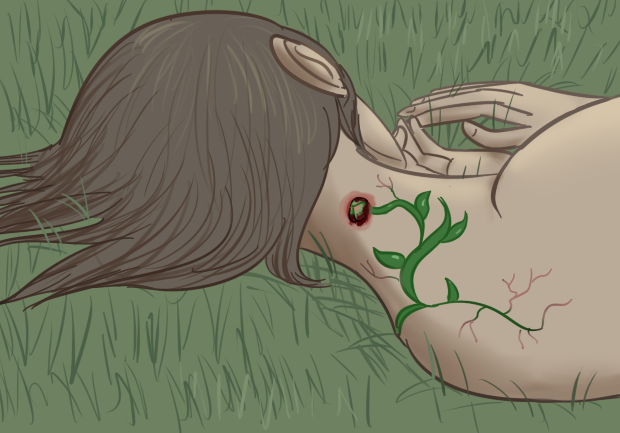Goretober day 5 - Plant growth in body