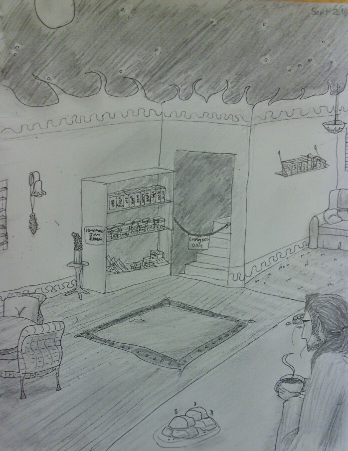 Demitri's Cafe (traditional art)