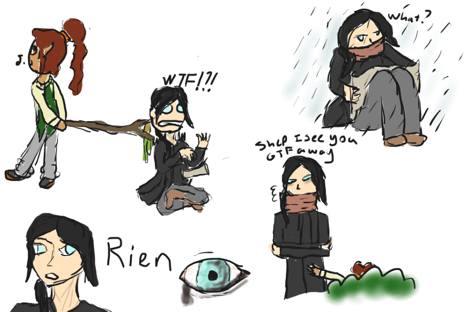 Kor drew-- HERE. HAVE SOME RIEN DOODLES.
