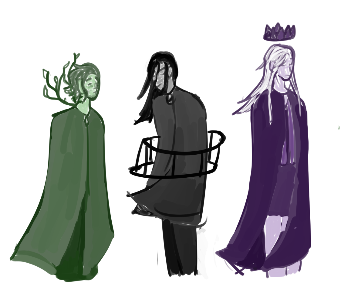 poorly drawn angsty symbolic doodles (all digt. doodles)