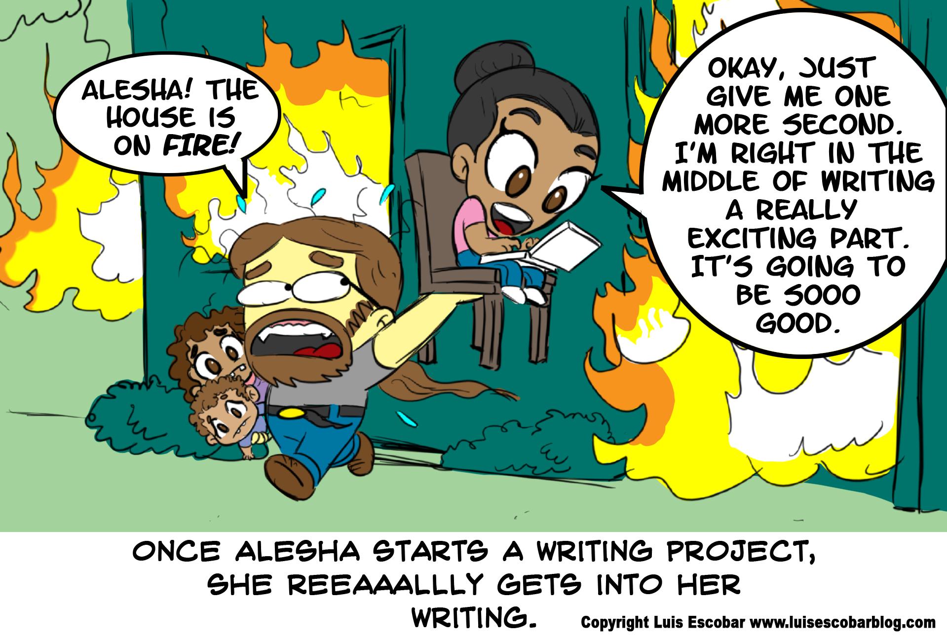 Alesha Escobar Writes Inside a Burning Building