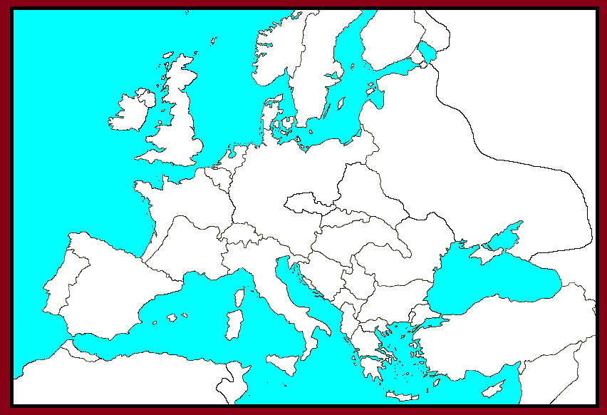 Map World Europe 1942