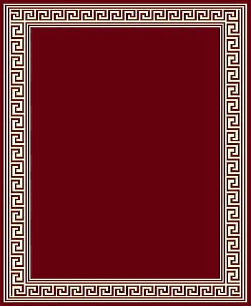 Greek Key Red