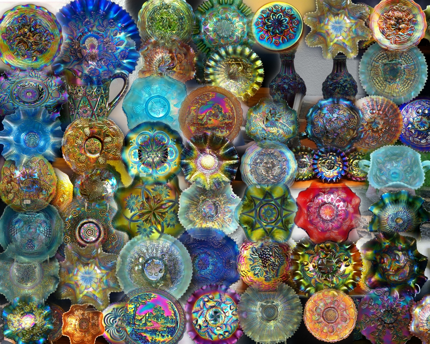 Carnival Glass Collage