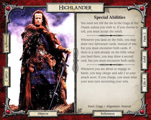 Highlander from Talisman... and the movies?