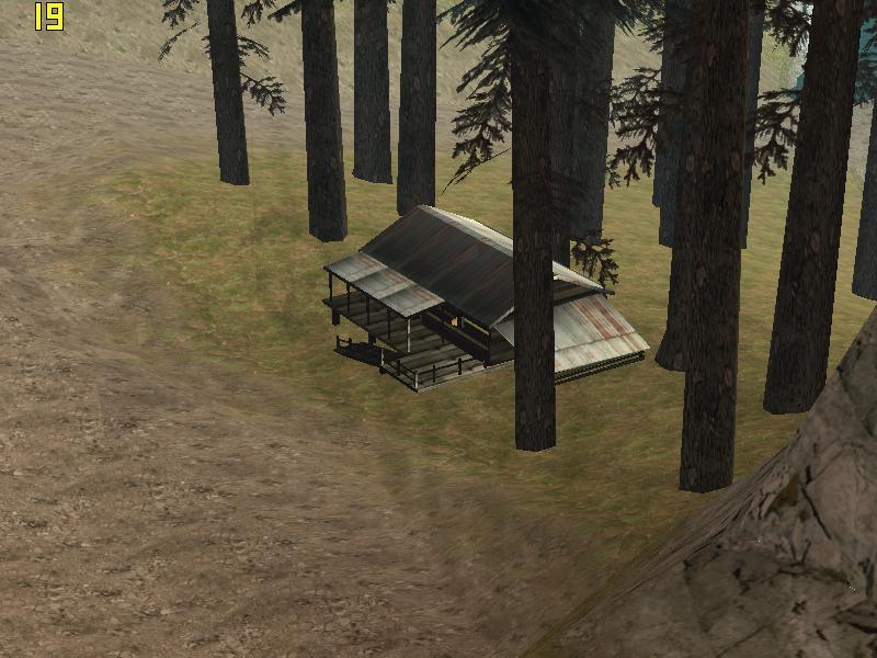 Shady cabin