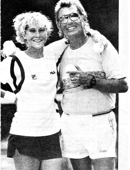 Monika Seles i otac Karolj