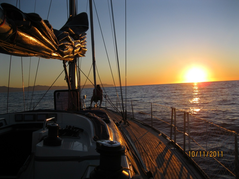 Sunset approaching Ibiza