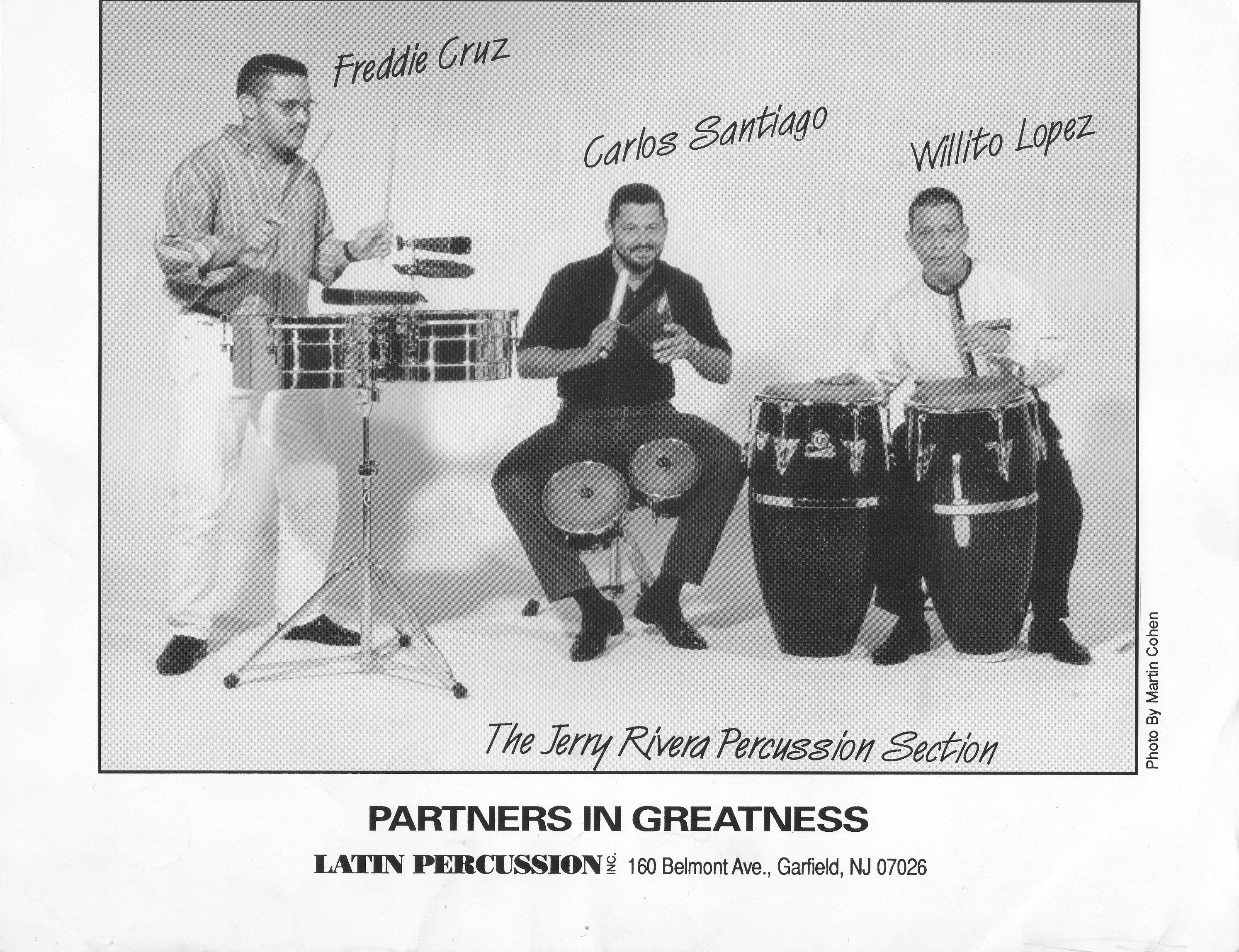 The Jerry Rivera Percussion Section