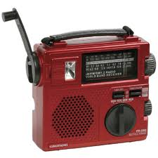 Radio - battery-powered or hand-crank