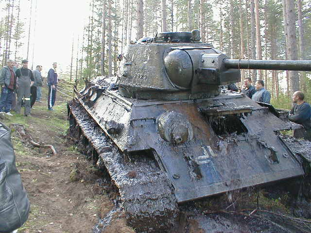 Converted russian tank by germans