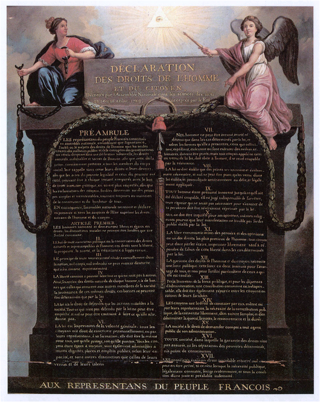 french revolution the declaration of the Edmund burke was one of the first to suggest that the philosophers of the french  enlightenment were somehow responsible for the french revolution, and his.