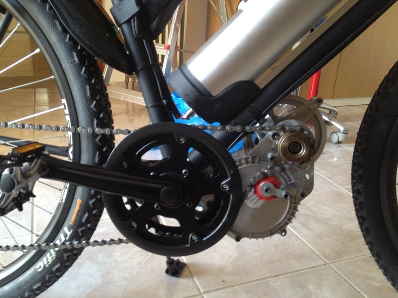 48V450W brushless mid-bike kit (belt)