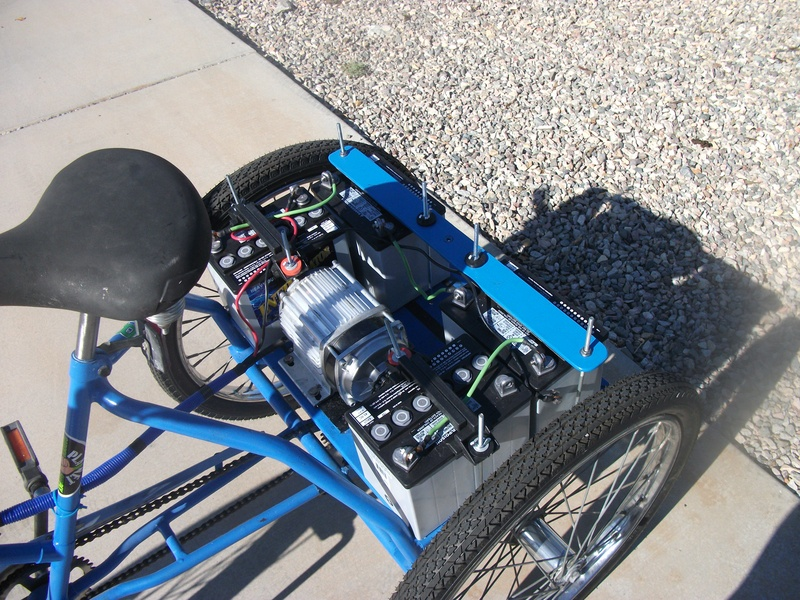 Randall's excellent design of  48v800w brushless trike kit