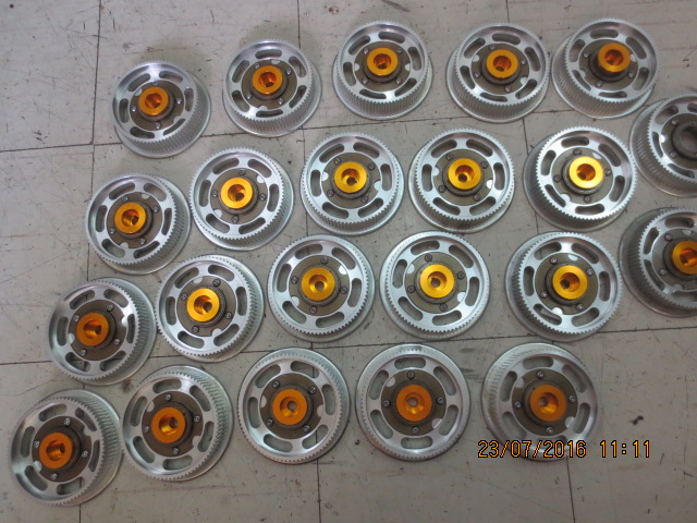 Production of pulley sets.