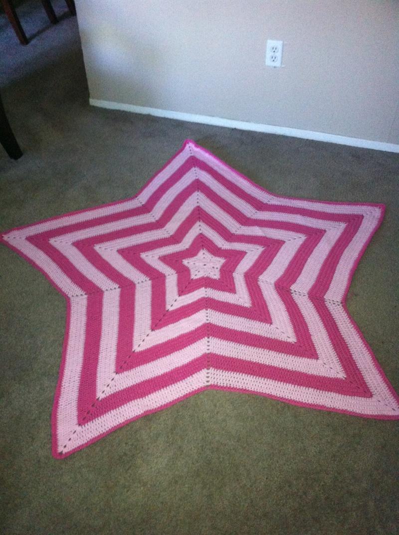 Bubblegum Pink and Soft Pink Star Blanket