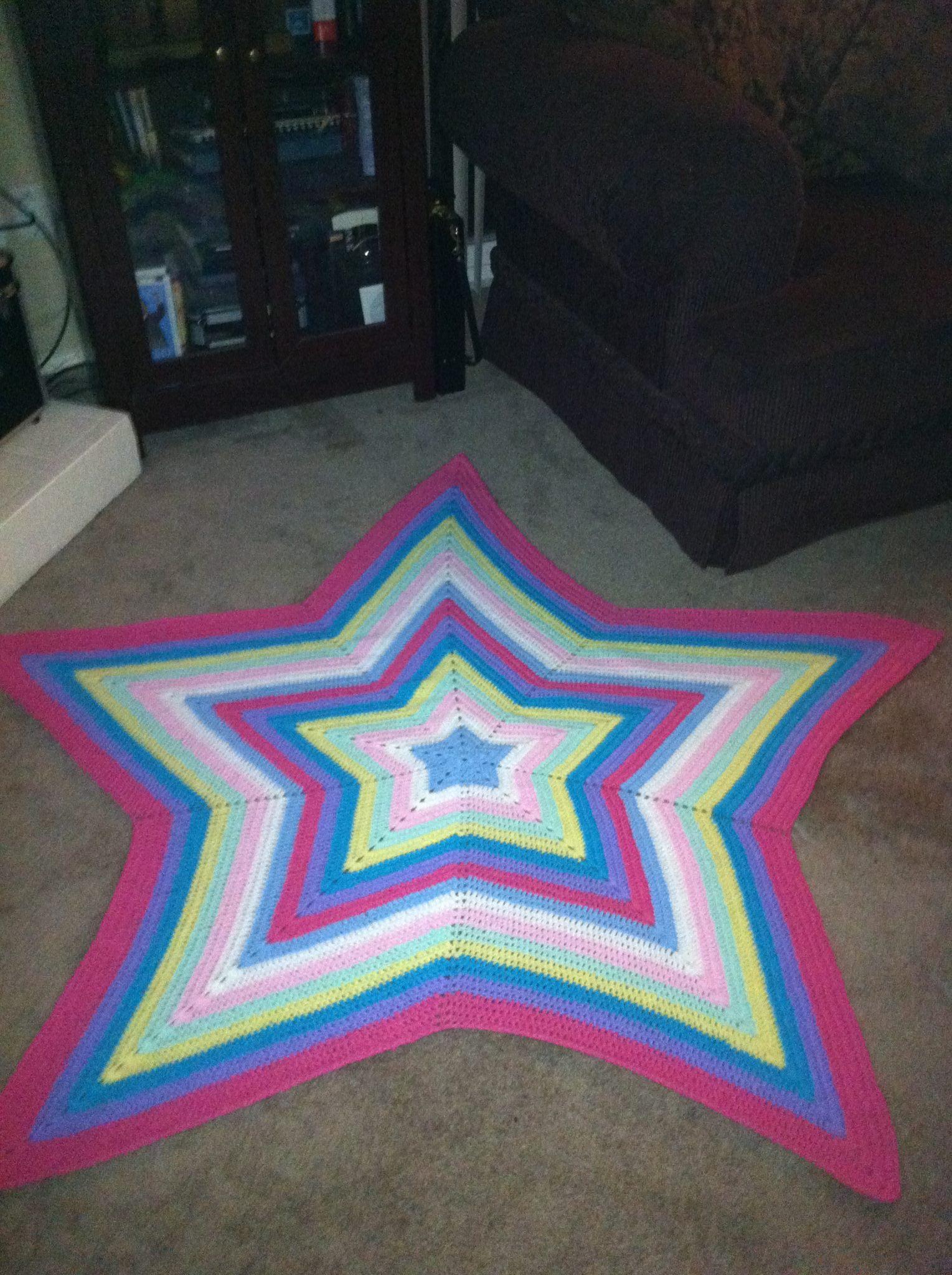 Rainbow Star Blanket in Multiple Colors