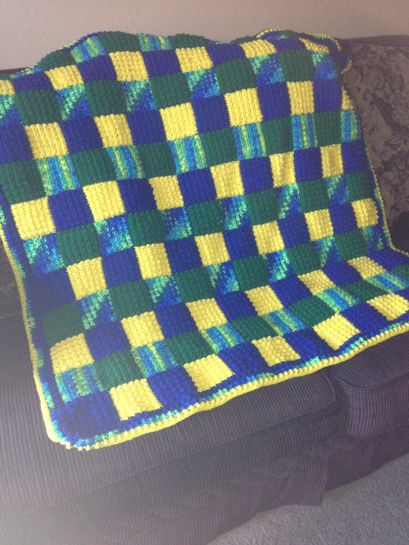 Beautiful Bold Colored Multiple Colored Blanket