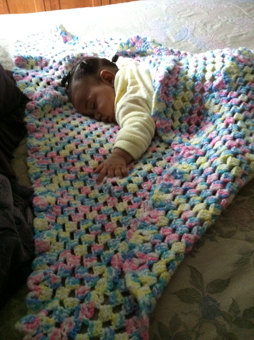 Arielle First Crocheted Blanket
