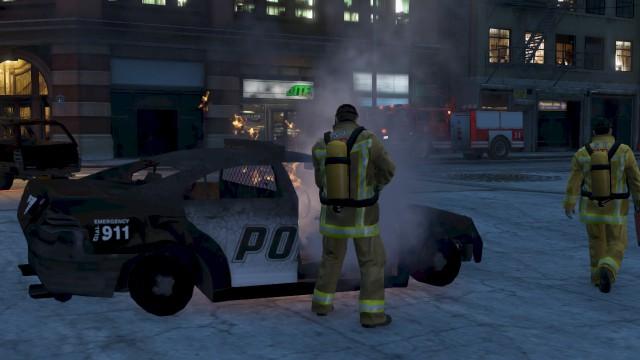 LSPD Car Fire