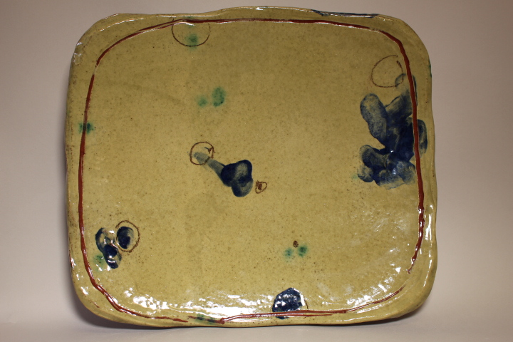 large footed platter