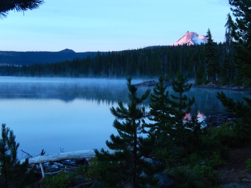 morning mist & alpine glow on the mountain
