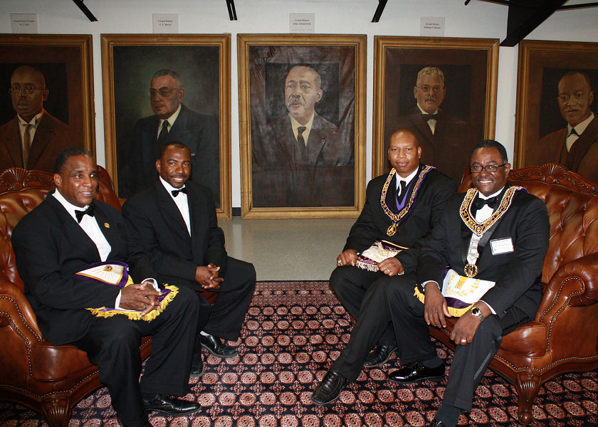 The Wilbert M. Curtis TX Prince Hall Library Museum ceremony