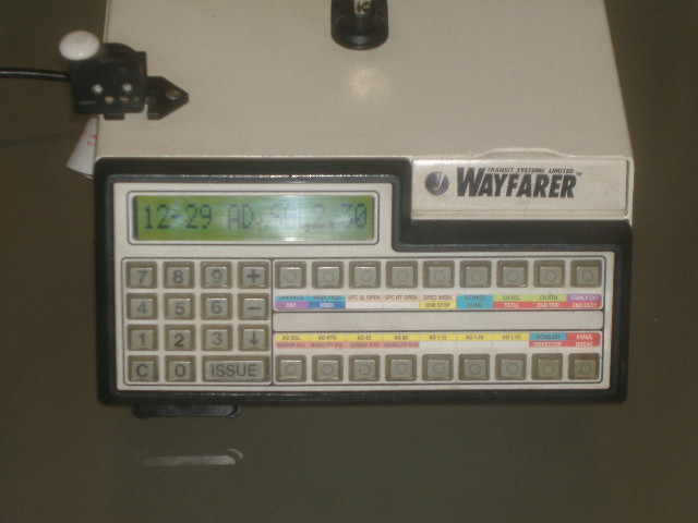 Wayfarer 3 ticket machine