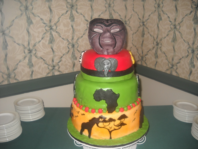 African Themed Cake