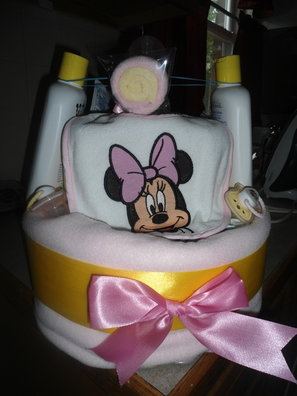 Baby Minnie Diaper Cake
