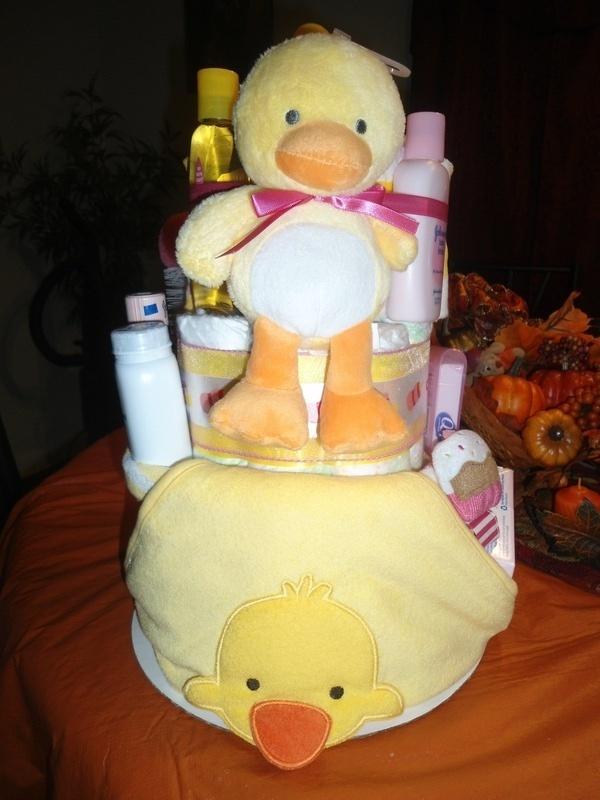 Baby Duck Diaper Cake