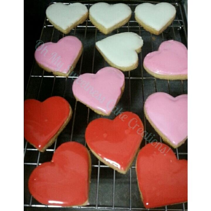 Heart Shaped Iced Sugar Cookies