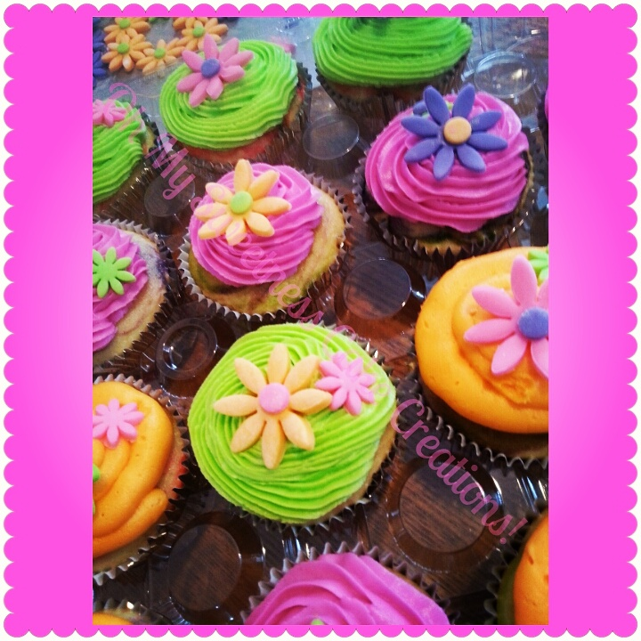 Neon Party Cupcakes!