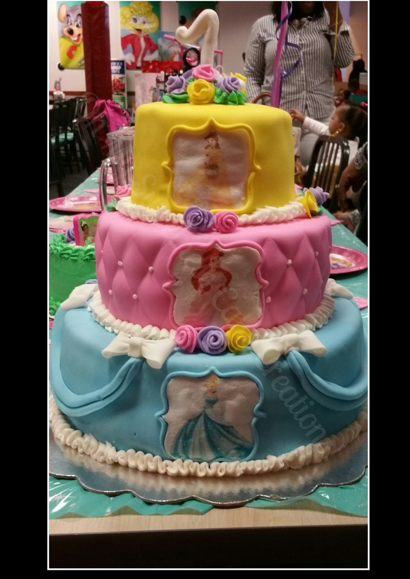 Disney Princess Themed Birthday Cake