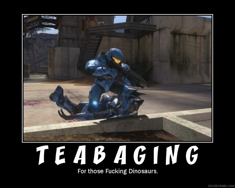 halo funny. Tea Baging. Damn right.