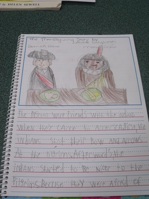 1st grade journal entry
