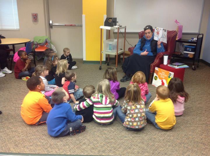 Preschool library trip