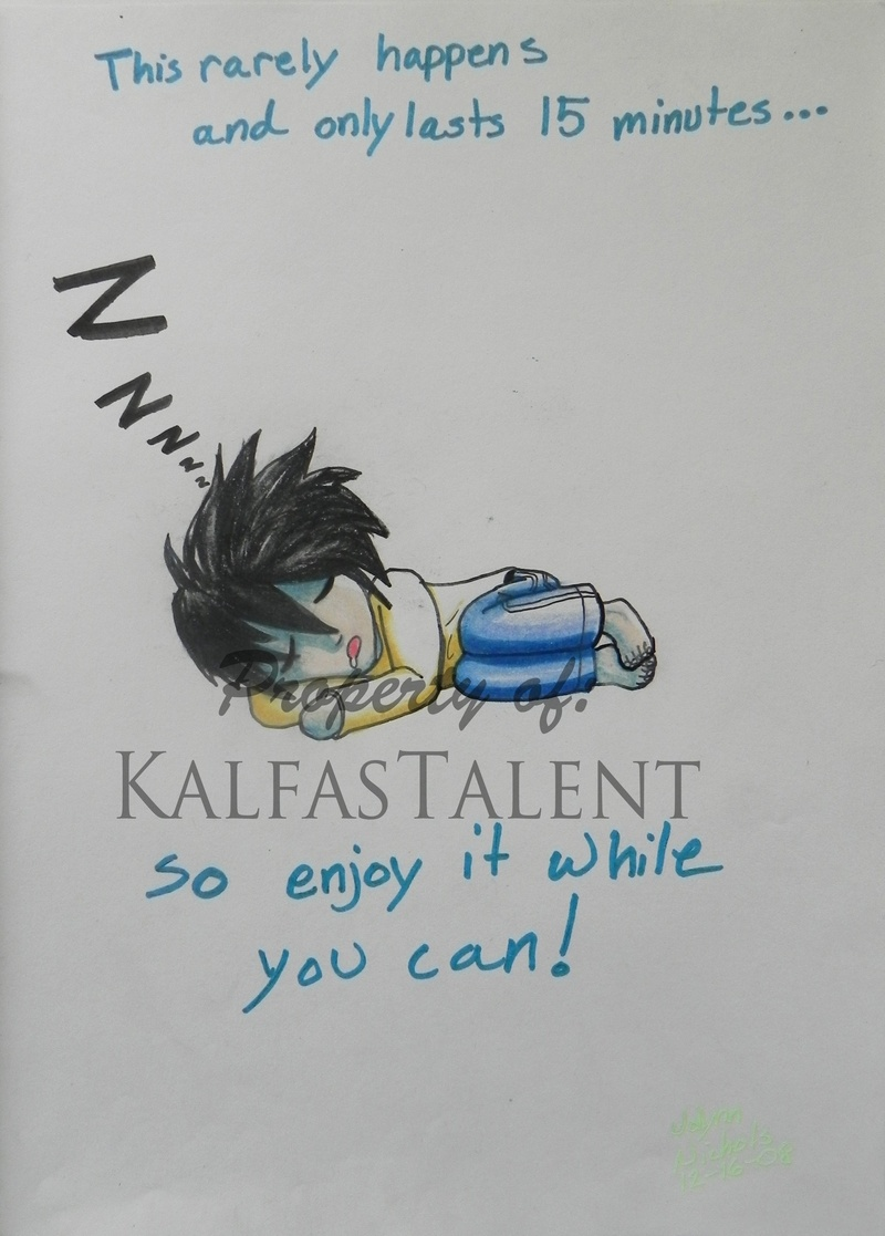 Sleeping L! ( Death Note )