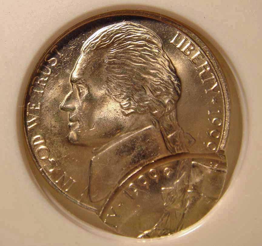 Double-Struck 1999-D Jefferson Nickel, Obverse