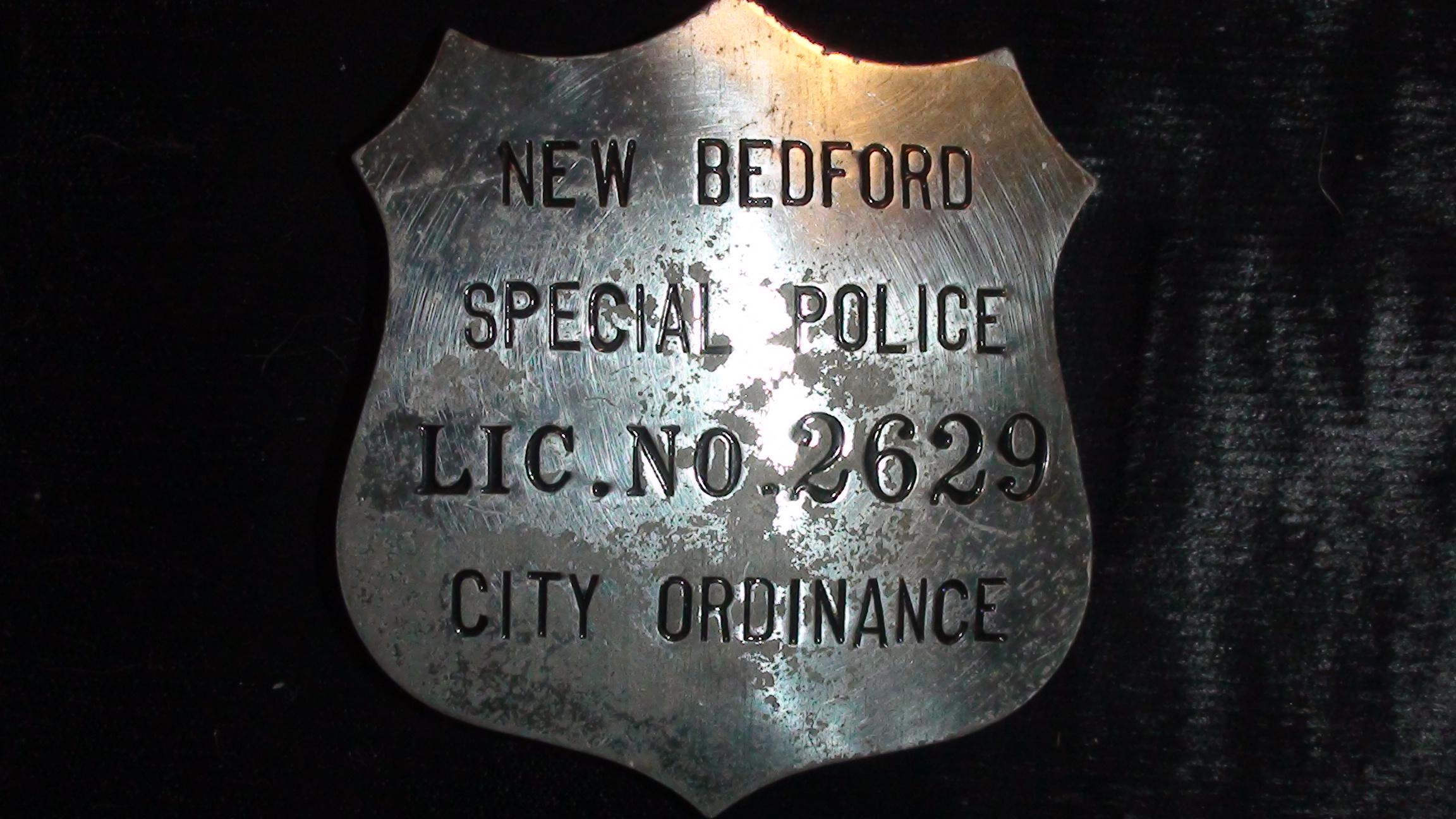 Vintage 1953 New Bedford Special Police Badge.