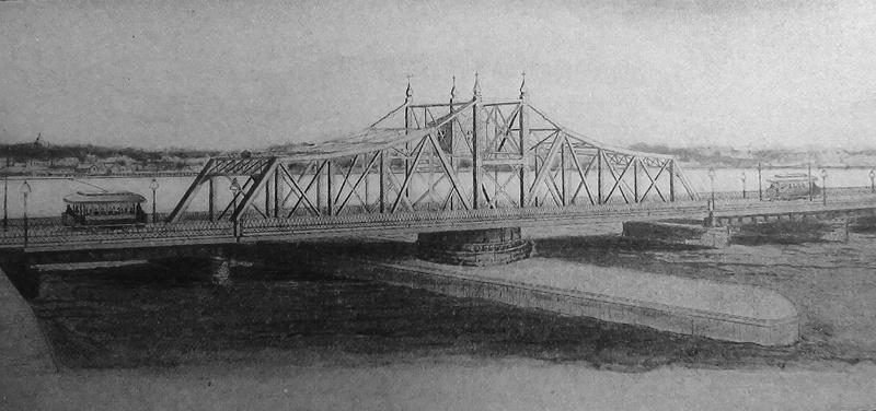The New Bridge Drawing c1900