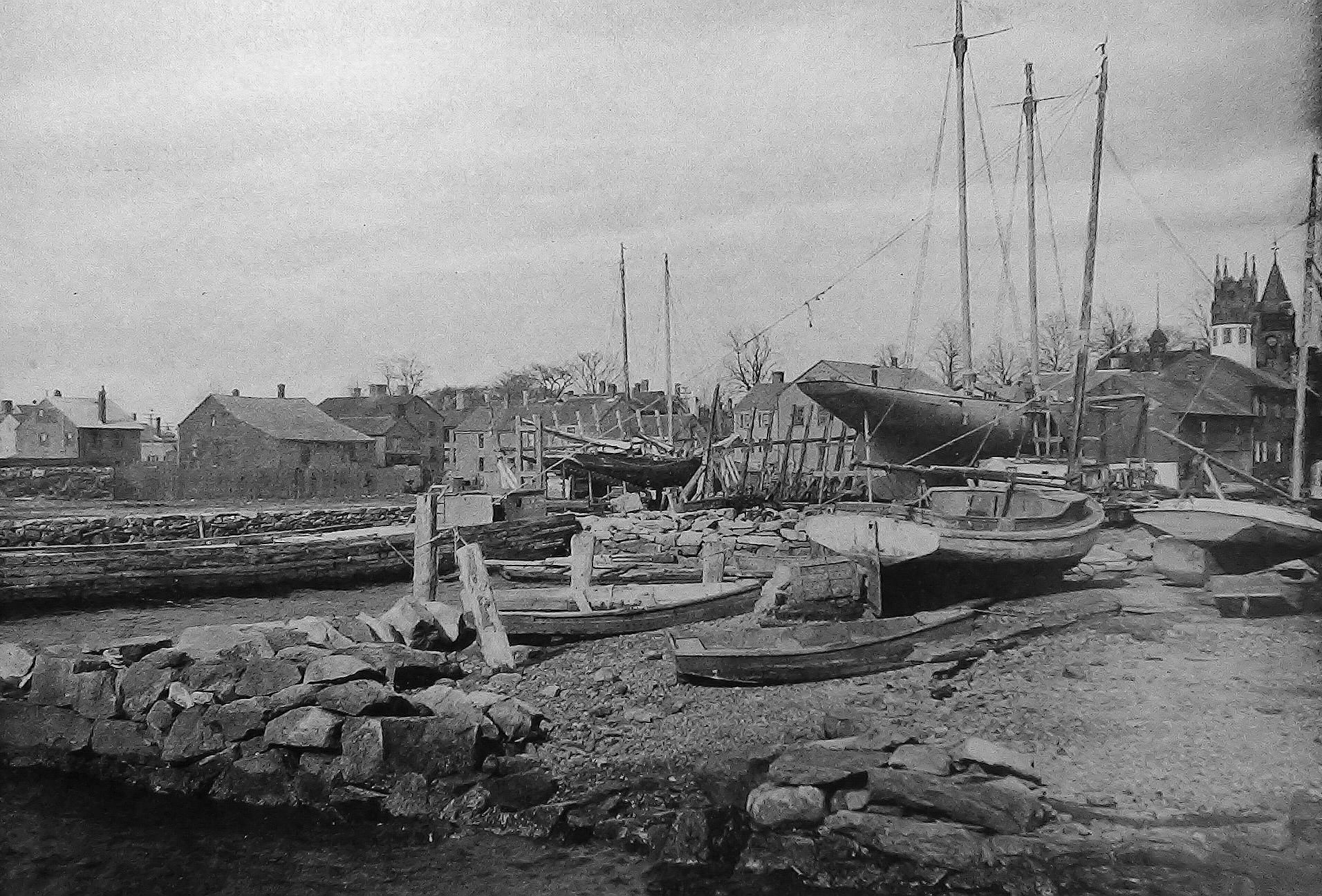 Kelly's Boat Yard Fairhaven, MA c1898