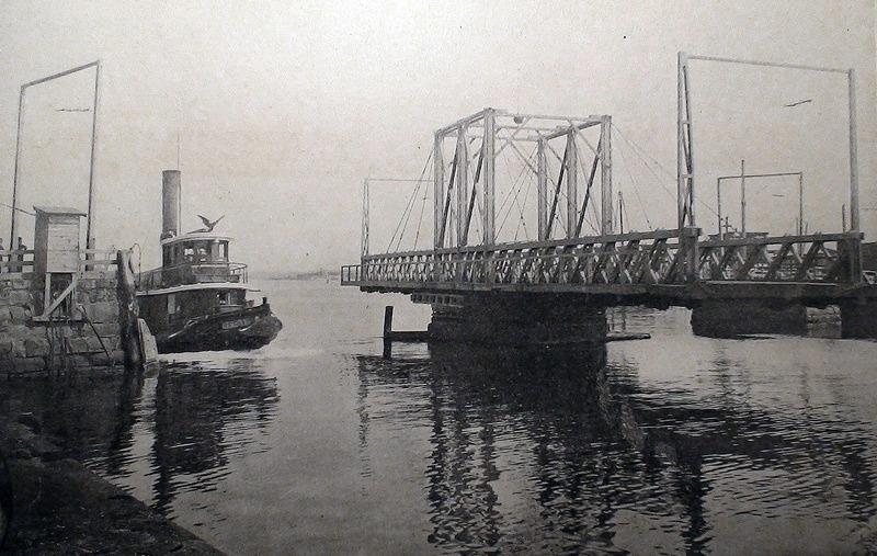 The Old New Bedford Drawbridge c1896