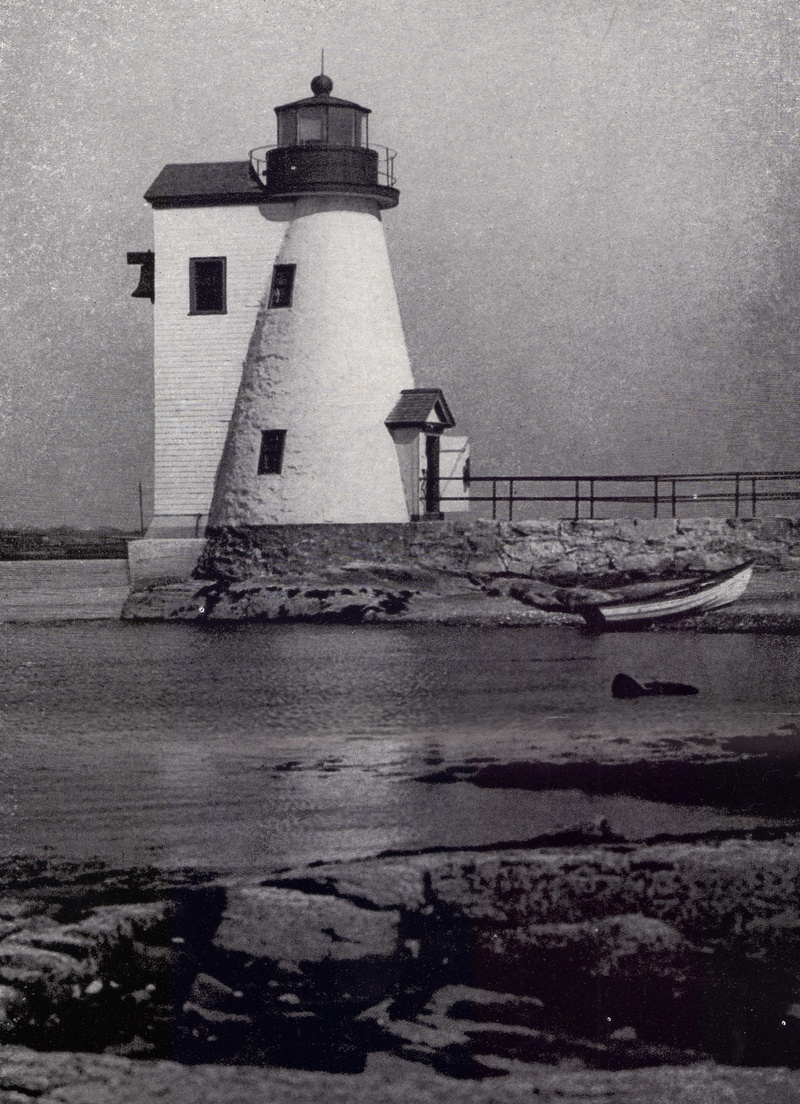 The Palmer's Island Light New Bedford Harbor c1920