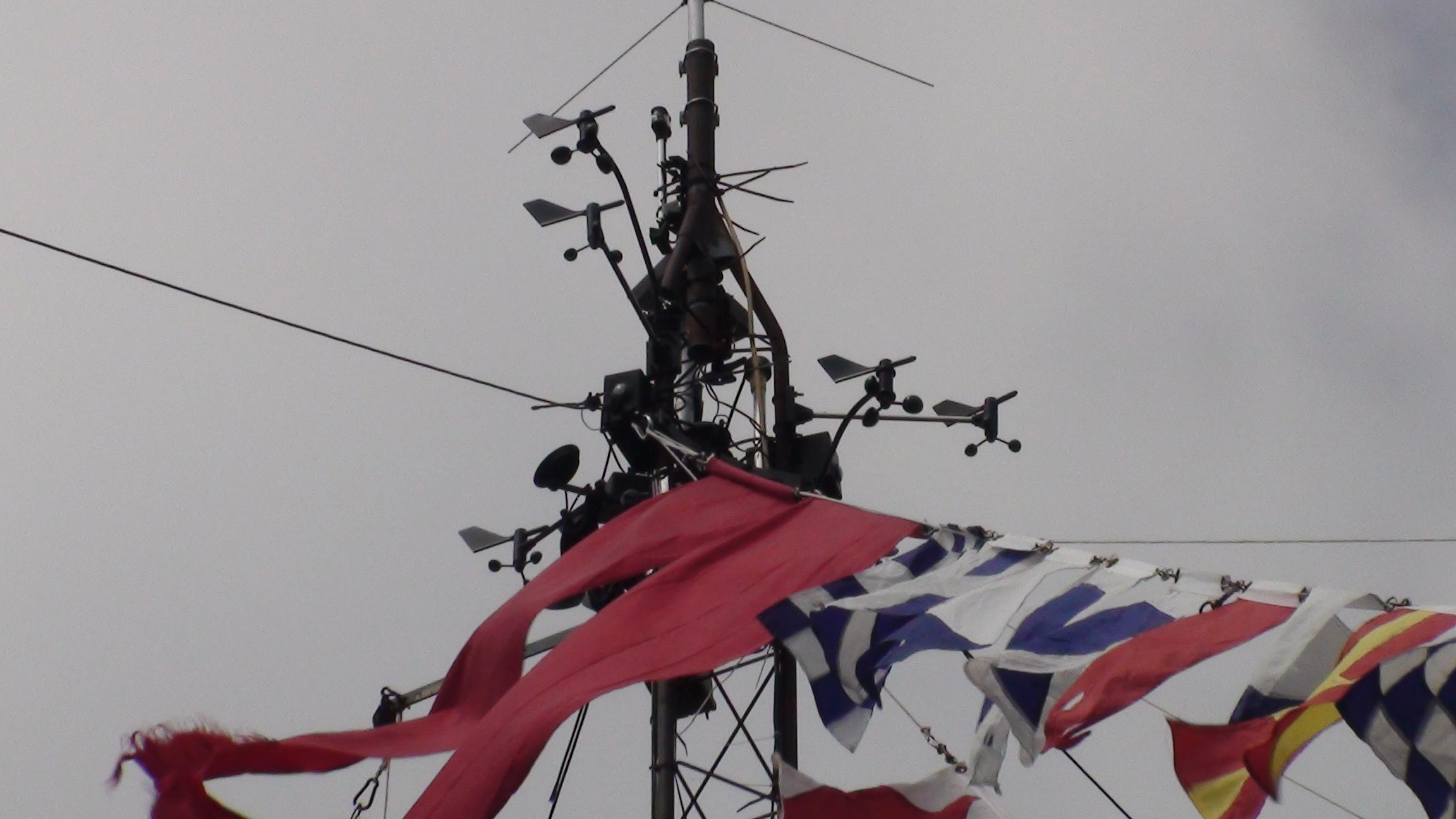 Northeasterly wind