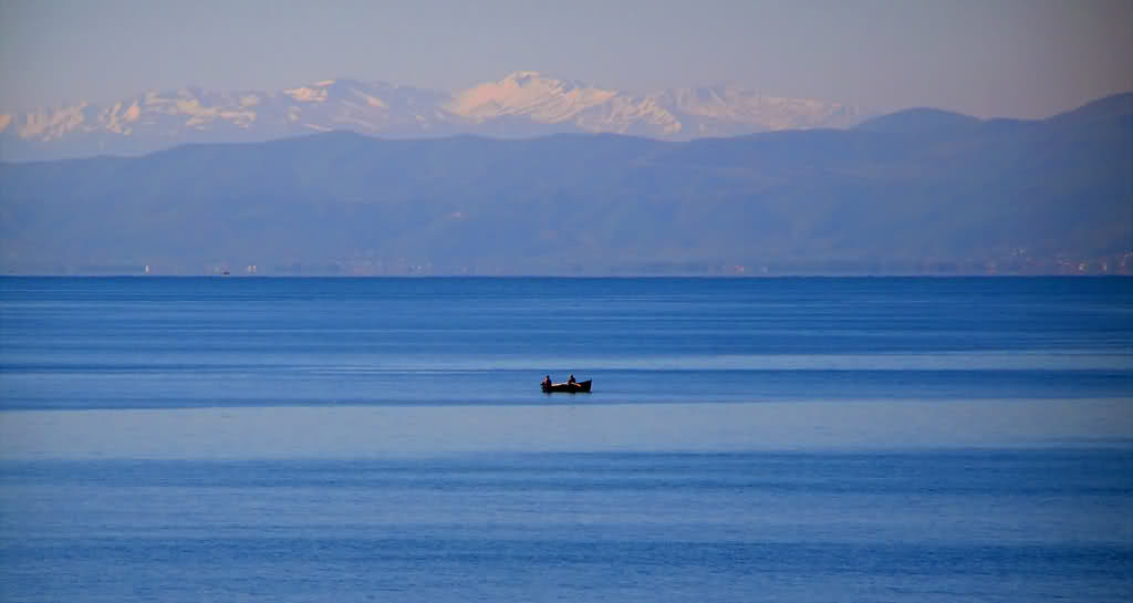 Ohrid Lake in the Winter