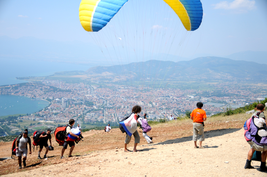 Paragliding in Ohrid, Macedonia