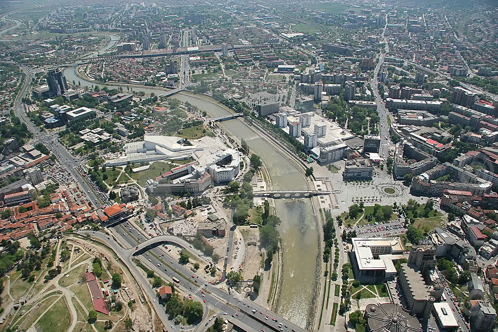 Skopje From a Helicopter