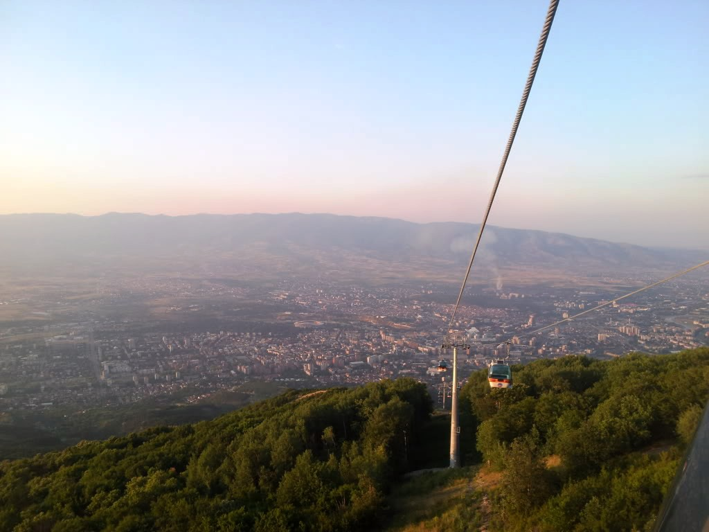 View from Millenium Cross Skopje